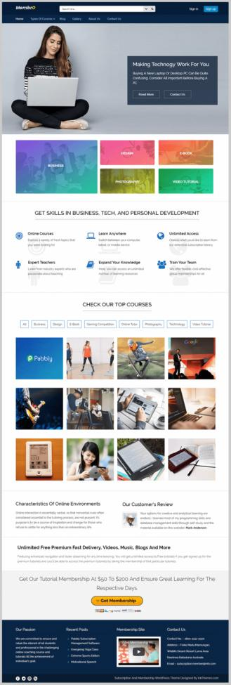 Membro InkThemes – Best Membership & Subscription WordPress Theme