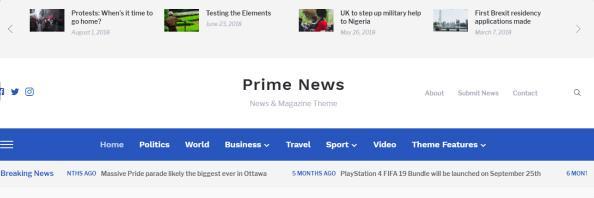 Prime News - Header