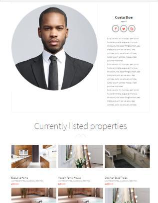 Realtor - Agent Profile Page