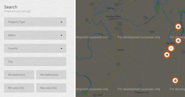 Realtor - Map Search Options