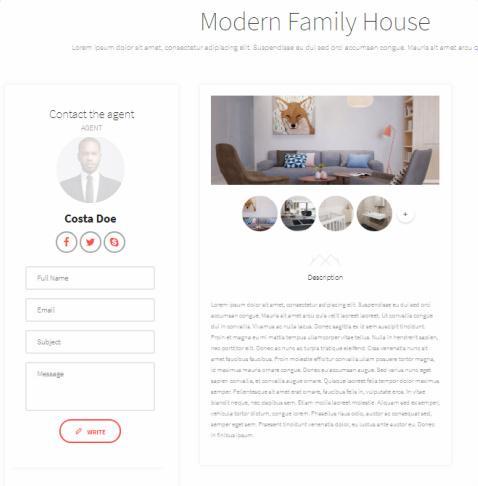 Realtor - Single Property Page