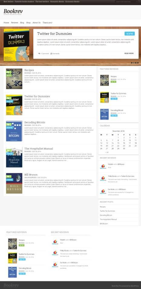 BookRev ThemeIsle : Magazine Book Reviews WordPress Theme