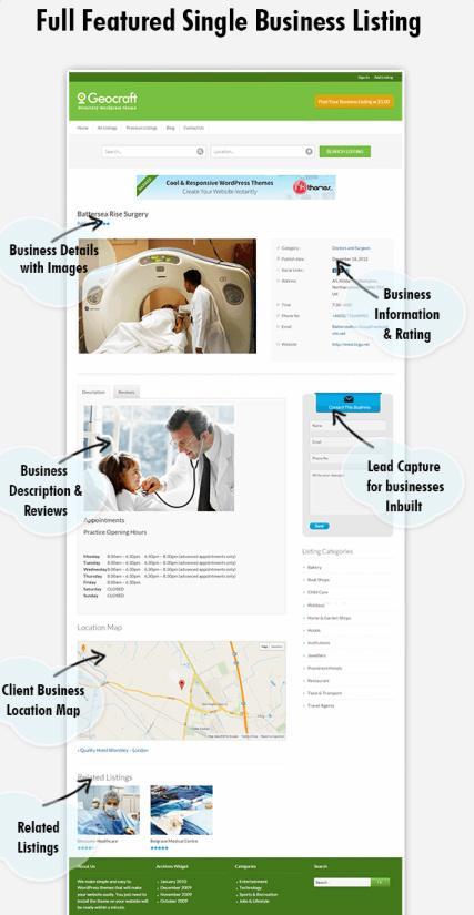 Geo Craft - Single Business Listing