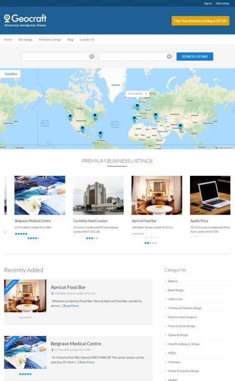 GeoCraft InkThemes - Business Listing Directory WP Theme