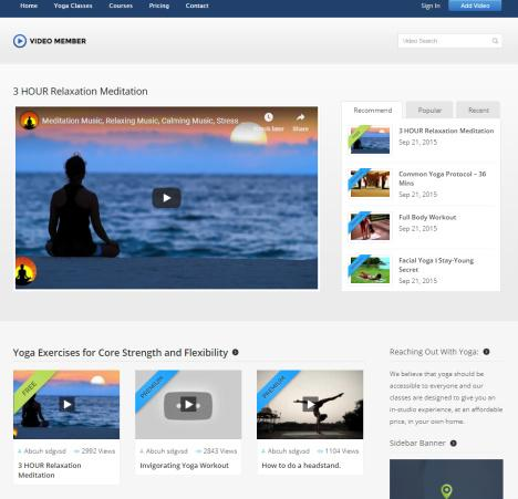 VideoMember - Homepage Featured Video Categories