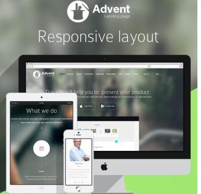 Advent - Responsive Landing Page Theme