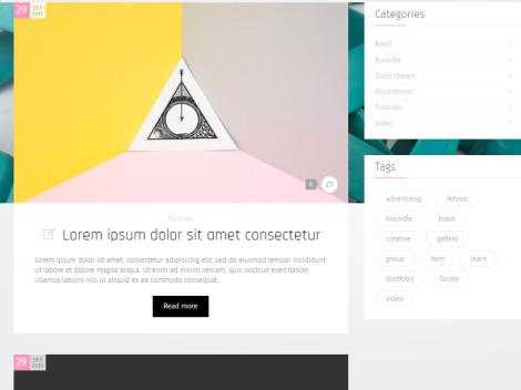 CRE8OR - Photo Gallery Blogging theme