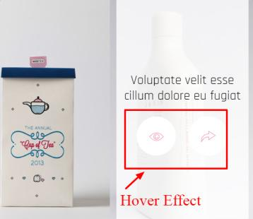 CRE8OR Portfolio Hover Options