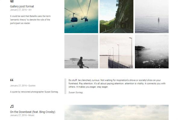 Coastline Blog Post Formats