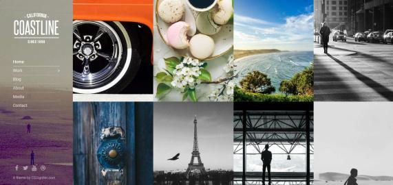 CSSIgniter Coastline : Portfolio Theme for Photography Showcase