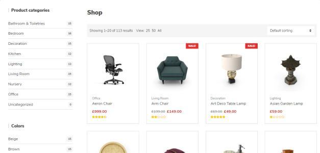 Decorist Shop Filter Layouts