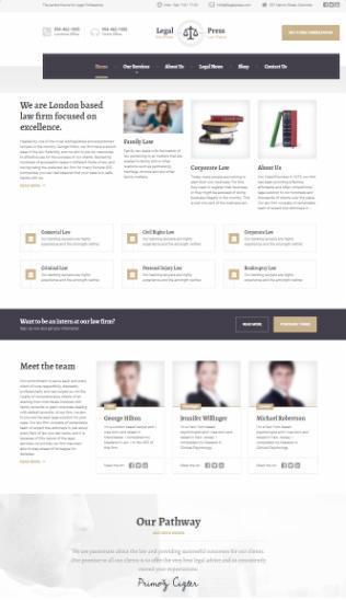 LegalPress ThemeIsle Proteus Themes : Lawyer / Legal WordPress Theme