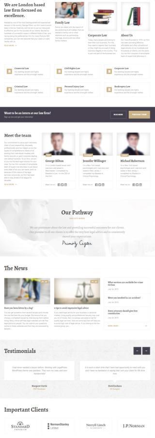 LegalPress - Homepge for Attorney Website Homepage