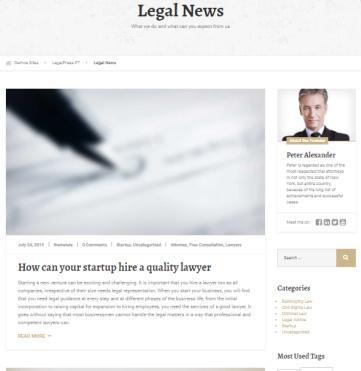 LegalPress - Lawyer Blog