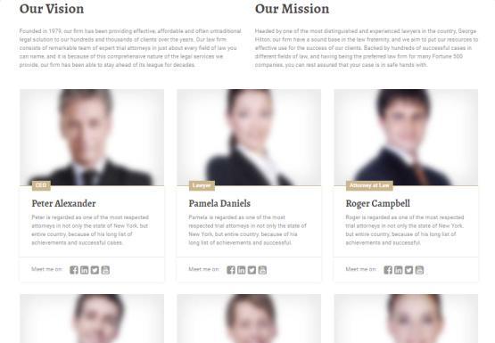 LegalPress Team and Company Page