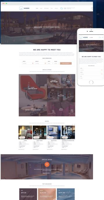 Tesla Themes Riverside Resort : Best Hotel & Resort WP Theme