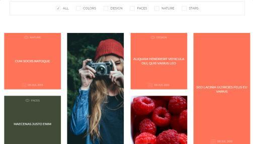 Shape Photo Gallery Masonry Grid Layout