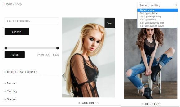 ShopIsle Shop Page - WooCommerce Theme