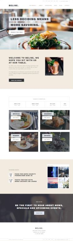 Belise ThemeIsle : Best Restaurant/Food Recipe WordPress Theme