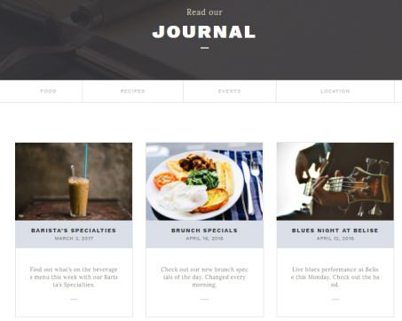 Belise - Food Recipe Blog Journal