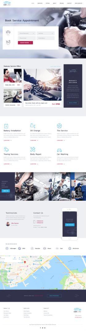 ThemeFuse Car Clinic : Car Service – Auto Repair/Mechanic Theme