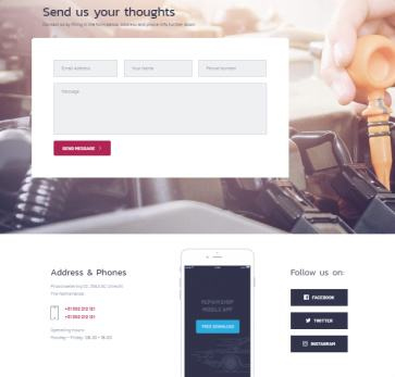 Car Clinic Theme - Contact Page