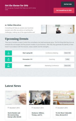 ConsultPress Frontpage Builder Sections