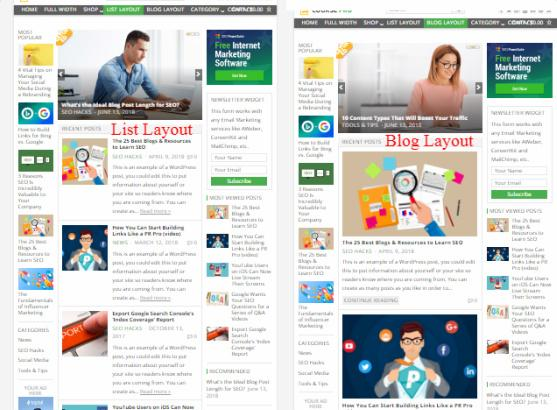 Course List - Blog Layout