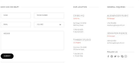Cribs Contact for Interior Designer Studios