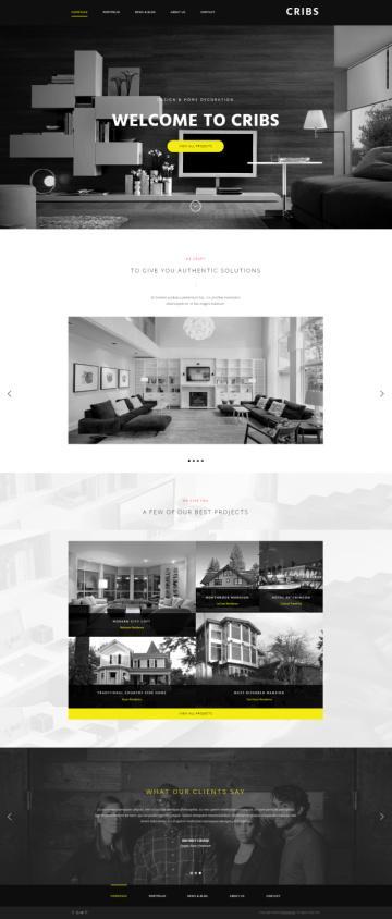 Cribs ThemeFuse : Architecture / Interior Designer WP Theme