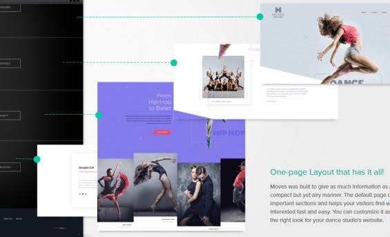 Moves - One Page Homepage Layout