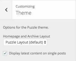 Puzzle Customizer Options