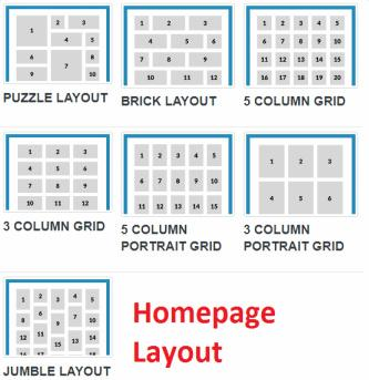 Puzzle Frontpage Layout