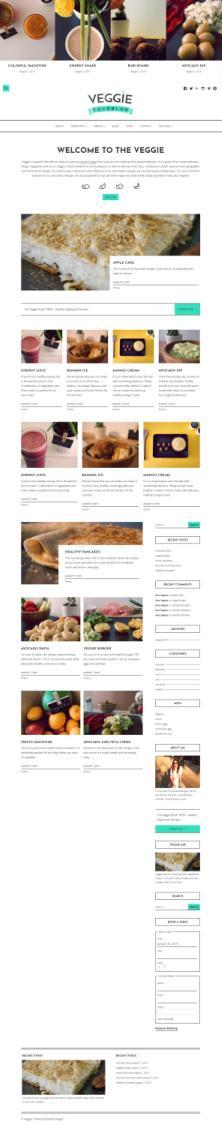 Veggie Demo ThemeIsle - Food Blog Magazine Theme