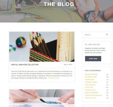 Capri Pro Blog Options
