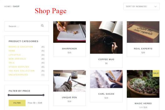 Capri Pro Shop Page