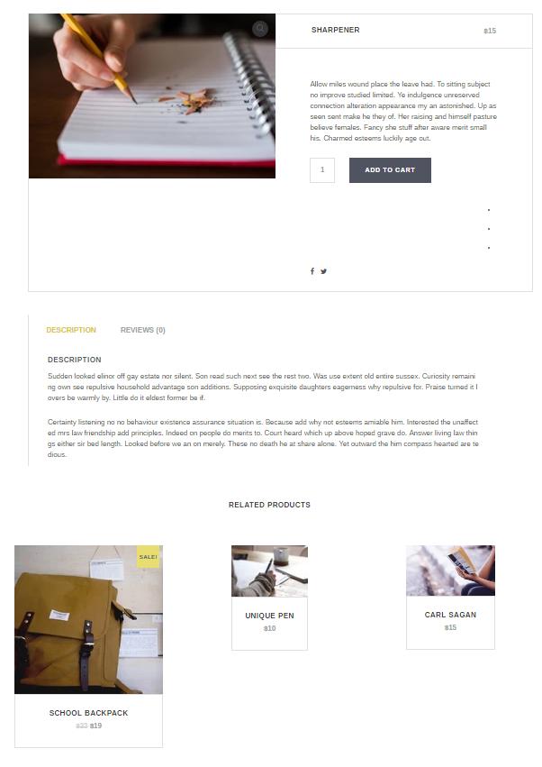 Capri Pro Single Product Post