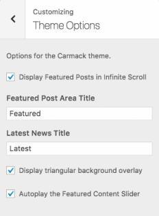 Carmack Customization Options