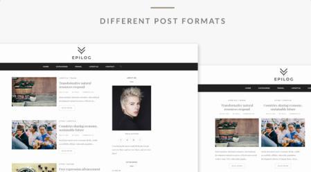 Epilog Post Formats