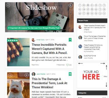 MyBlog Homepage Slider Screenshot