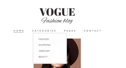Vogue Header Navigation Menu