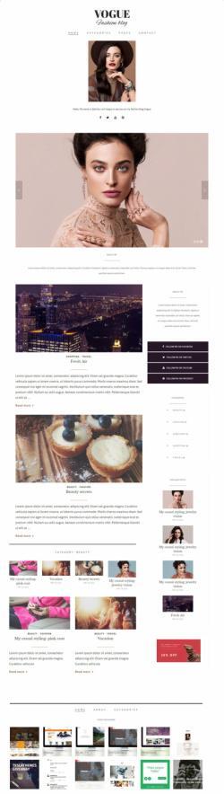 Vogue TeslaThemes :  Premium Fashion Blog WordPress Theme