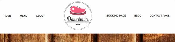 Downtown Header Logo and Widgets
