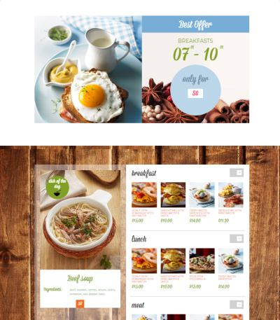 Downtown Homepage for Food Cafe Business Websites