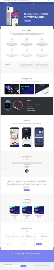Inc Demo - TeslaThemes WordPress Business Theme