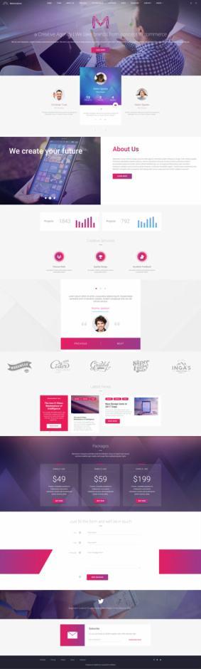 Materialism - Landing Page Material Design Theme - TeslaThemes