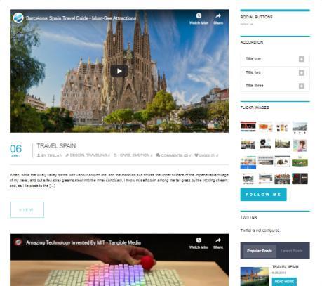 Motive Blog with Sidebar