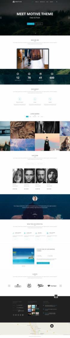 TeslaThemes Motive – Agency Business WordPress Theme