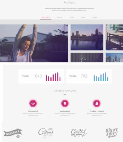 Portfolio Partners - Landing Page Theme