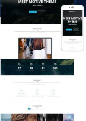 Responsive Portfolio Theme - Homepage Demo
